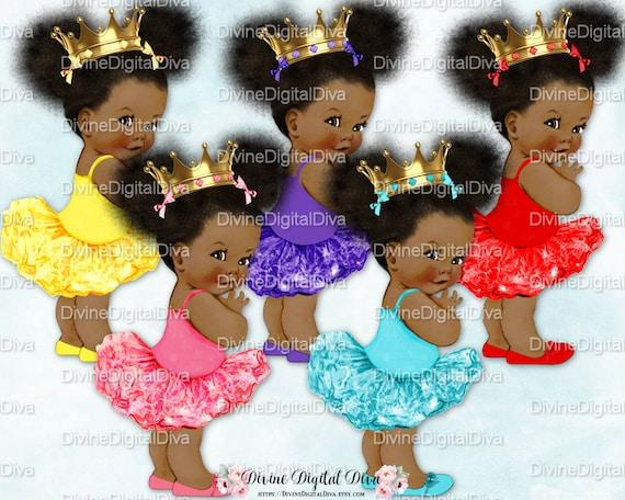Princess Ballerina Gold Crown Baby Girl Natural Hair Pony