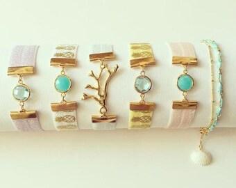 LEI|elastic ribbon bracelet (5 styles)