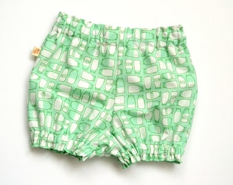 Mint Milk - Bloomers - Shorts - Diaper Cover - Shortys - Baby Shorts - Toddler shorts - Baby Boy bloomers - Baby Girl Bloomer