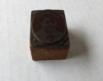 Tin type Photo on tin