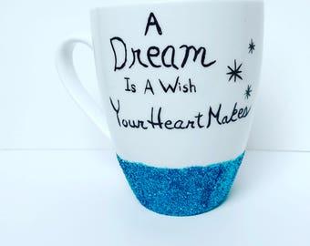 Cinderella Inspired Hand Painted Mug