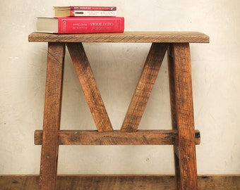 Reclaimed Wood Side Table - Accent Table - End Table - Barn Wood
