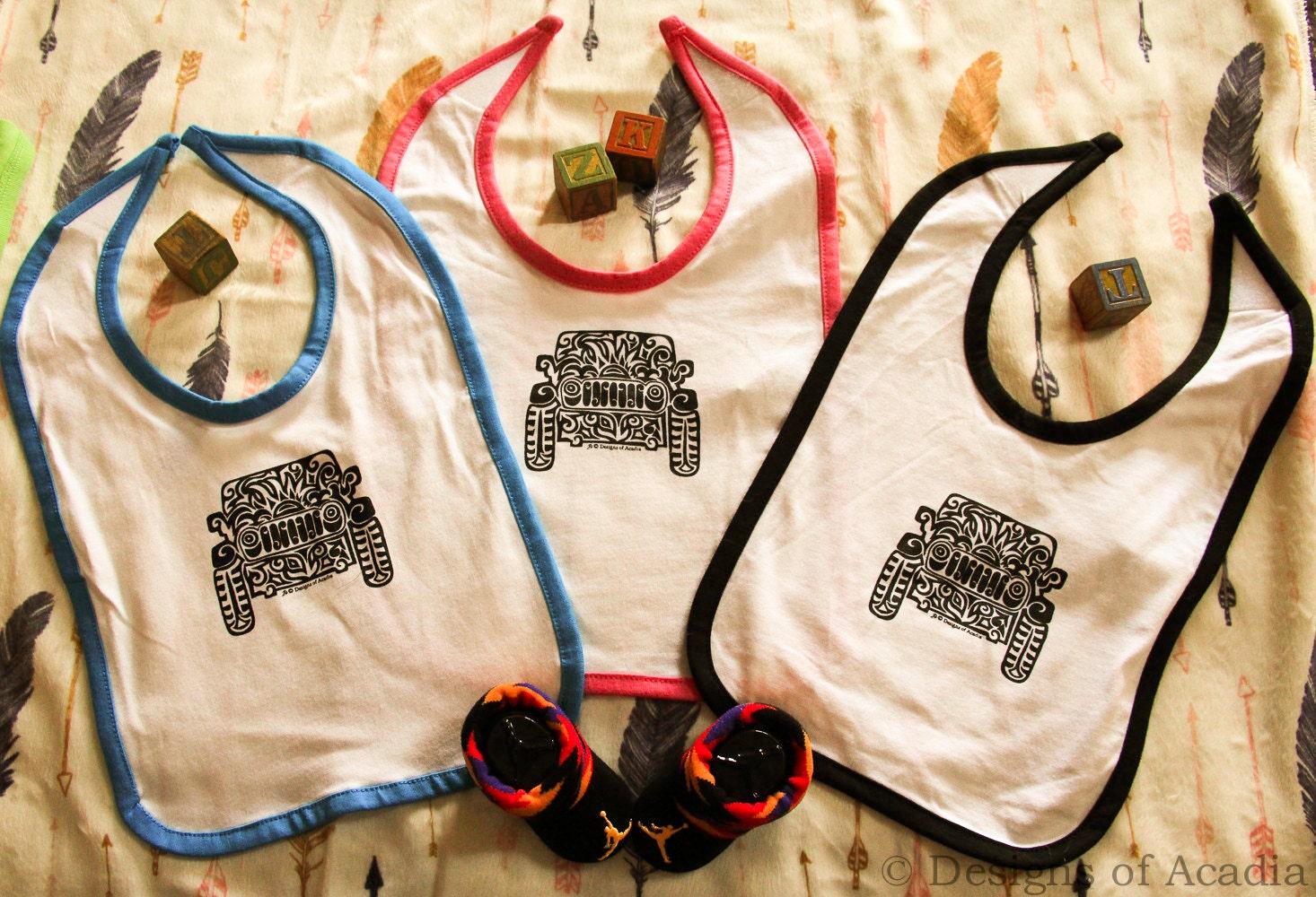 jeep infant tribal tattoo rabbit skins infant bib. Black Bedroom Furniture Sets. Home Design Ideas