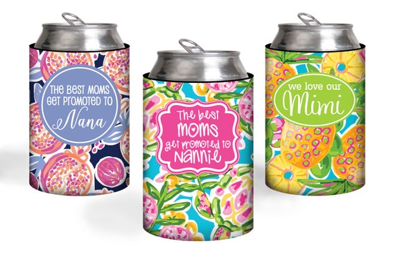 Stocking Stuffer For Mom Gift Personalized Can Coolers The Best Moms Get Promoted To Custom Can Coolies Unique Christmas Gift for Grandma