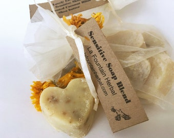 Sensitive Skin Soap Hearts, Organic Soaps, Handmade Soap