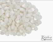 50 pcs Pastel White Glass Pinch Beads Classic 5x3,5 mm (9318)
