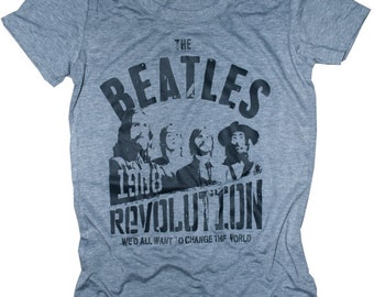 """1968 Vintage Beatles """"The Revolution"""" Extremely Soft Cotton Summer Womens T-Shirt  - XL-L-M-S Available"""