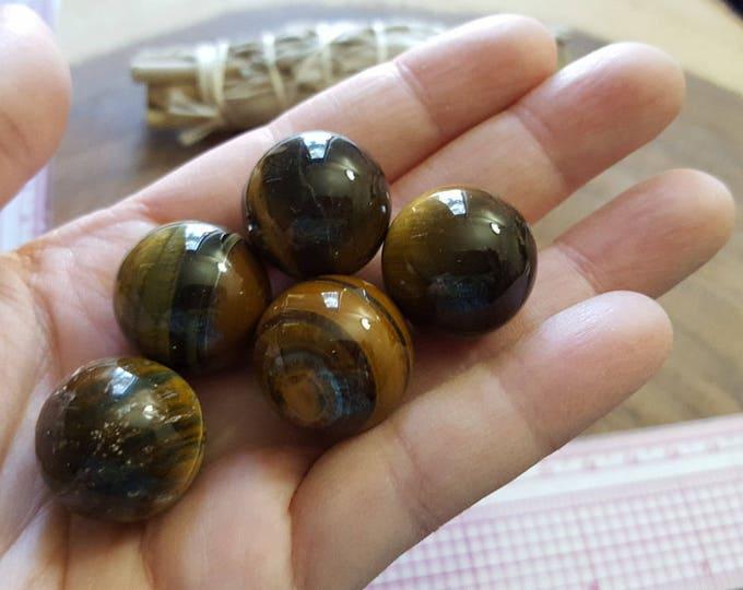 Tiger Eye sphere ~ One 20mm Reiki infused crystal ball, sphere, marble
