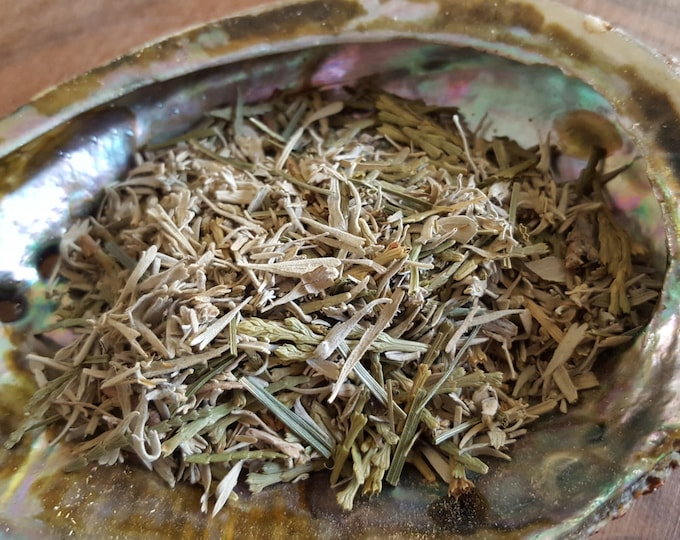 Shasta Sage, Sweetgrass and Cedar smudge mix Reiki infused (1-3 ounces)