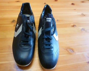 Converse  leather shoes, soccer cleats, football spikes, size 12, made in Czechoslovakia,vintage.