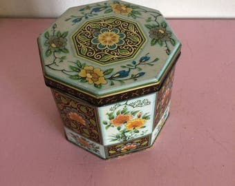 Vintage Floral Container
