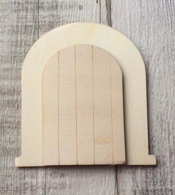 Pack of 10 unpainted laser cut opening faerie fairy doors for Unpainted fairy doors