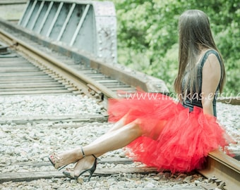 Christmas Tutu Skirt For Women Red Party Tulle Adult
