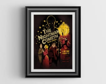 The Nightman Cometh - It's Always Sunny in Philadelphia artwork - large signed postcard - 5.5 x 8.5 inch