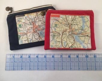Mini Providence R.I. Map coin purse