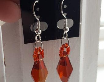 Bridesmade swarovski earrings