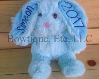 Personalized Embroidery Floppy Ear Bunny/Easter Basket gift/Adult or Child