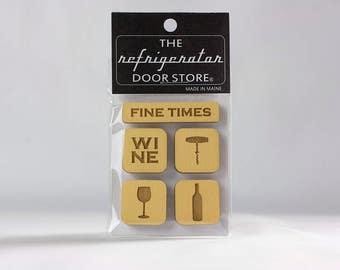 Refrigerator Magnet. Fridge Magnets. Kitchen Magnets. Kitchen Decor. Fine Times.