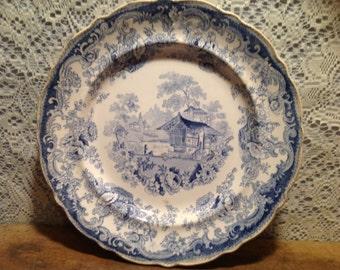 Vintage Swiss Dinner Plate