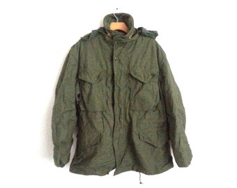 Vintage Army Field Jacket Military Surplus Men's Medium