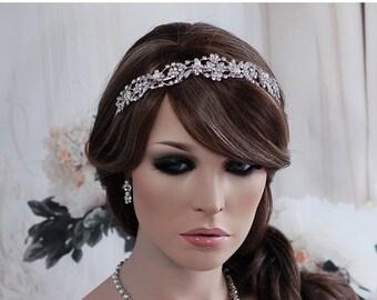 Wedding Headband Crystal Pearl Crystal Headband Bridal Headpiece Bridal Hair Accessory Accessories Headband Jewelry Tiara Head Band