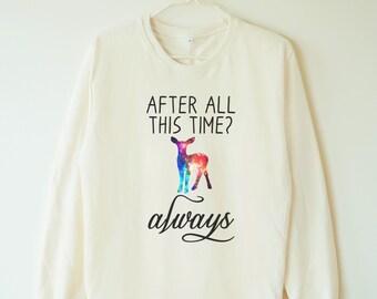 Galaxy after all this time tshirt always tshirt galaxy deer shirt deer sweatshirt jumper sweater long sleeve shirt women tshirt men tshirt