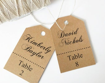 name place cards escort card tag seating cards seating tags place cards wedding gift tags set