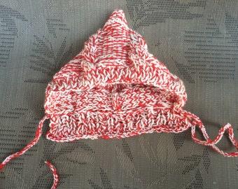 Pixie knit hat, Baby knit hat, baby boy knit hat, newborn knit hat