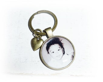 Key ring with photo, bronze