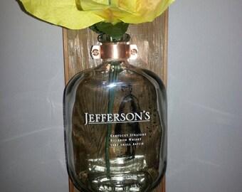 Jefferson's Bourbon Bottle wall vase
