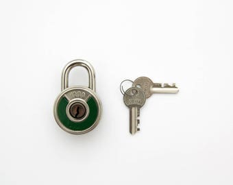 Vintage Hungarian Padlock by Elzett 1200 // Vintage Lock // Vintage Padlock // Vintage Pad Lock // Elzett Padlock
