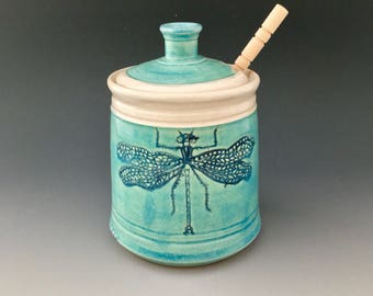Ceramic Honey Pot/Jam Jar/ Sugar Bowl Made to Order Wheel-thrown by NorthWind Pottery