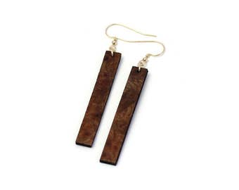 SIMPLY STRAIGHT Earrings // Salvaged WOOD Jewelry // Basic Everyday Earrings