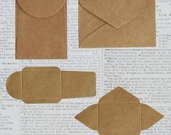 Pack of Mini Kraft Envelopes