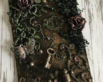 Secret Garden Mixed Media Canvas