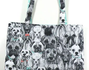 Must Love Dogs REVERSIBLE Everyday CANVAS Tote Bag