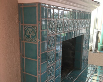 Kitchen Tiles Handmade handmade art tiles for kitchens fireplacescampbelltileworks