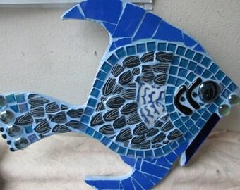 Blue Angel Fish mosaic