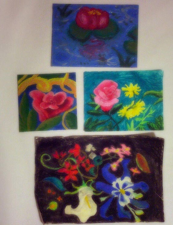Old batch of floral artworks from 2000s onward.