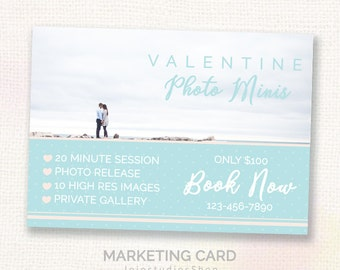 Photography Marketing Board - Mini Sessions - Photoshop template - INSTANT DOWNLOAD - M010V