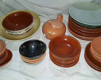 HUGE Eva Zeisel Redwing Red Wing Town & Country Lot (see pics) - Sold by the Piece