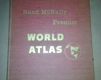 1954 Centennial Edition Rand McNally World Atlas Book - Mint