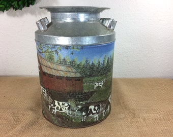 Metal Milk Can *FREE SHIPPING*  Decorative Metal Milk Can - Canister - Vase