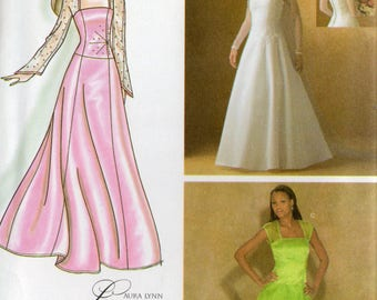 Simplicity Pattern 4258 BRIDE BRIDESMAID DRESSES Misses  16 18 20 22 24
