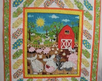 Animal farm 58x64 quilt