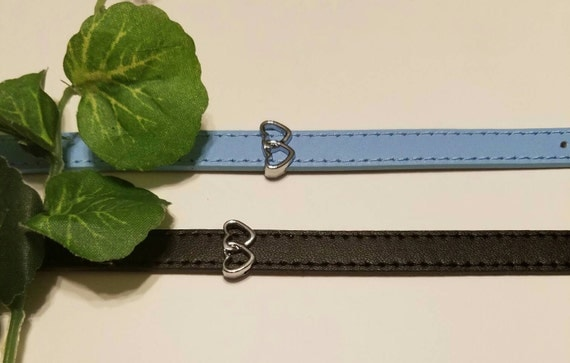 Natural  leather bracelets with slider charms