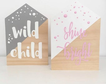Wood Signs Wooden House Custom Pastel