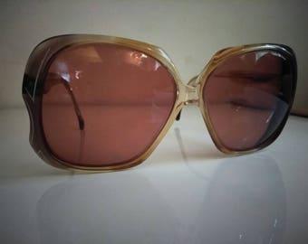 Burgundy tinted vintage glasses, bifocal sunglasses, vintage frames, vintage glasses, 1970's eyewear, vintage eyewear, vintage eyeglasses