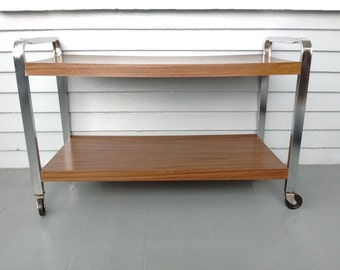 vintage mid century rolling cart cart tv cart tv stand