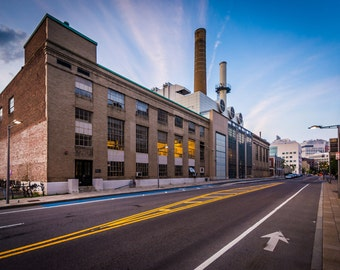 Vassar Street, at Massachusetts Institute of Technology, in Cambridge, Massachusetts. | Photo Print, Stretched Canvas, or Metal Print.